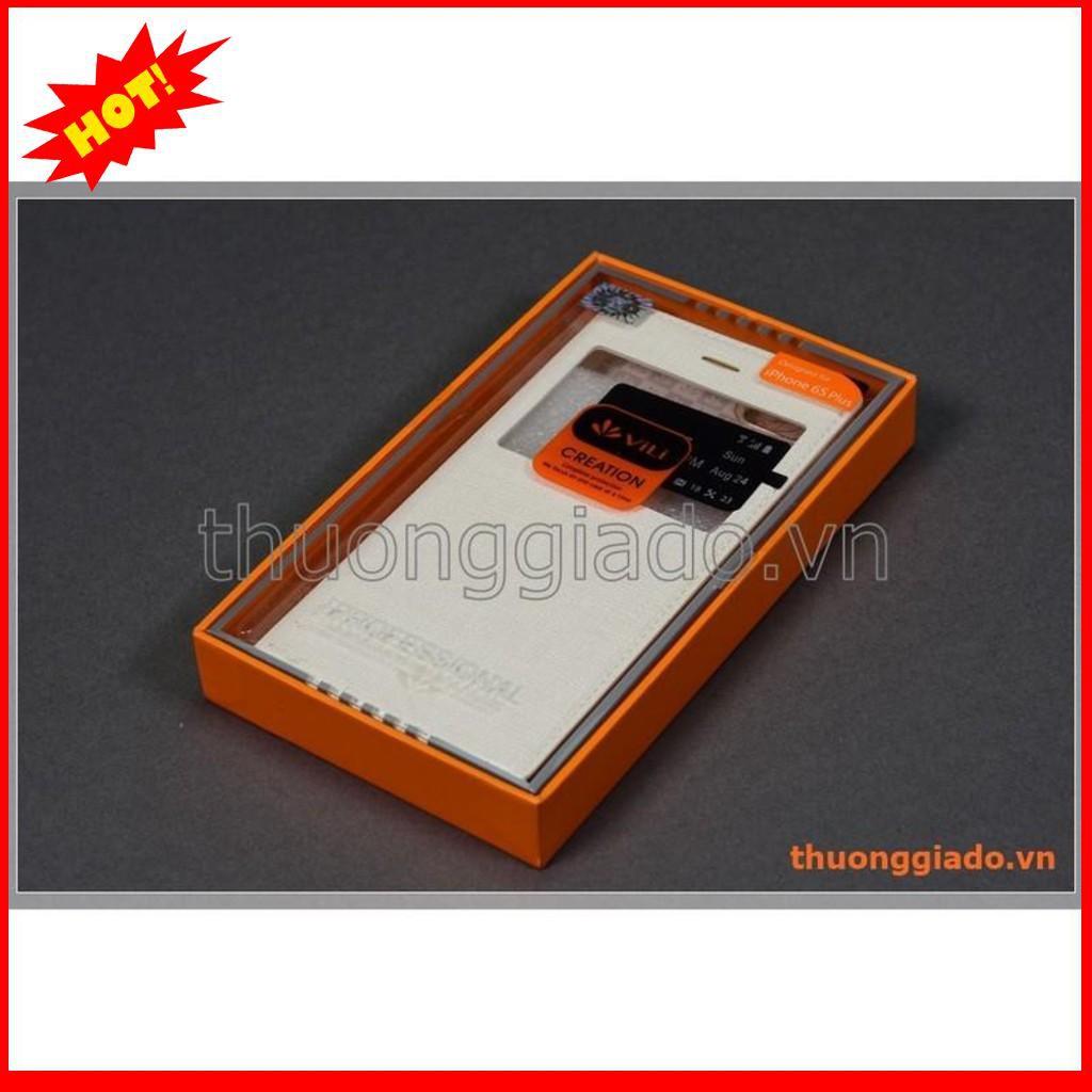 Bao da iPhone 6S Plus, iPhone 6 Plus flip leather case, có cửa sổ view, hiệu Vili – BẮC TỪ LIÊM