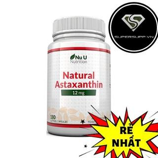 Viên uống bổ sung Nu U Nutrition – Astaxanthin 12mg (180 viên)