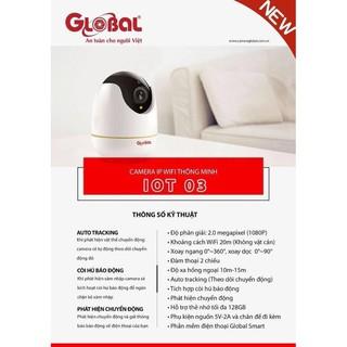 Camera Wifi Indoor GLOBAL IOT-O3 2.0Mp Full HD 1080P thumbnail