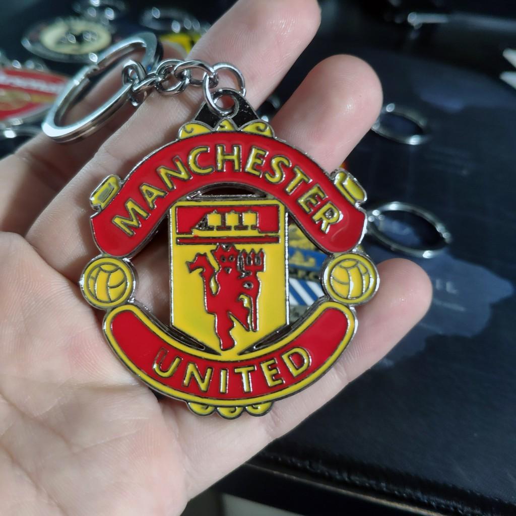 Móc khoá kim loại logo các CLB đội bóng Real Madrid Chelsea arsenal Bayern Munich Dortmund MU Manchester United City...