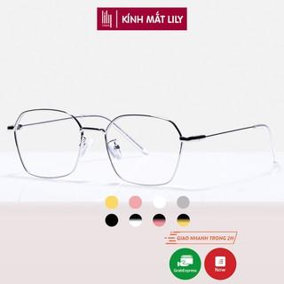 """Gọng kính cận kim loại nam nữ mắt đa giác Lilyeyewear 2808 nhiều màu giá chỉ còn <strong class=""""price"""">9.900.000.000đ</strong>"""