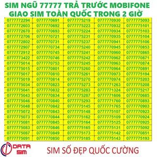 Sim trả trước mobifone ngũ quí 77777 đồng giá-L01