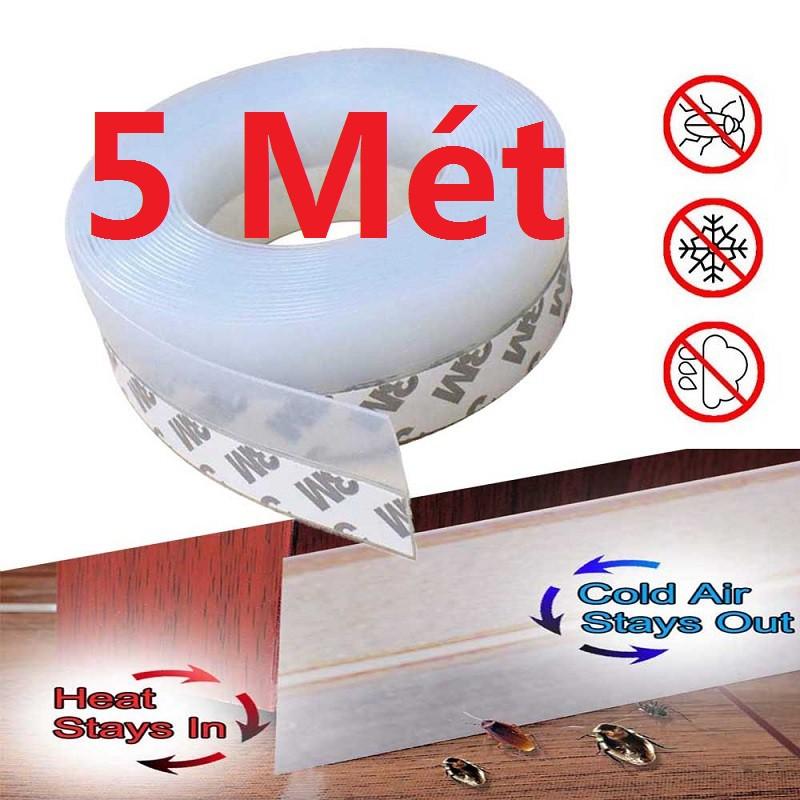 【Có hàng sẵn】5M×25MM Dây silicon dán viền cửa chống côn trùng tiệ