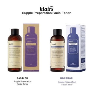 Nước hoa hồng dưỡng ẩm Klairs Supple Preparation Facial/Unscented Toner