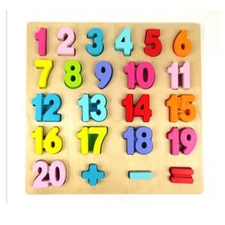 Bảng đồ chơi gỗ bảng số học