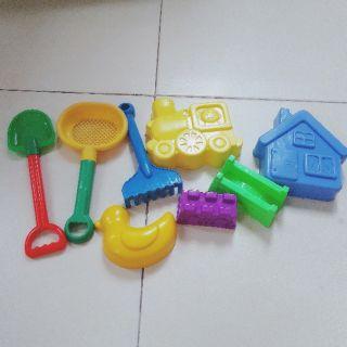 (Hàng Nhật 2hand) Combo Đồ chơi xúc cát trẻ em nhựa an toàn.