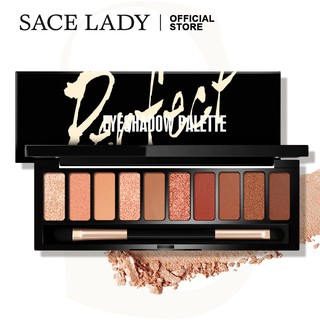 SACE LADY Perfect Eyeshadow Palette With Brush 10 Colors Matte Color Rich Waterproof 100g thumbnail