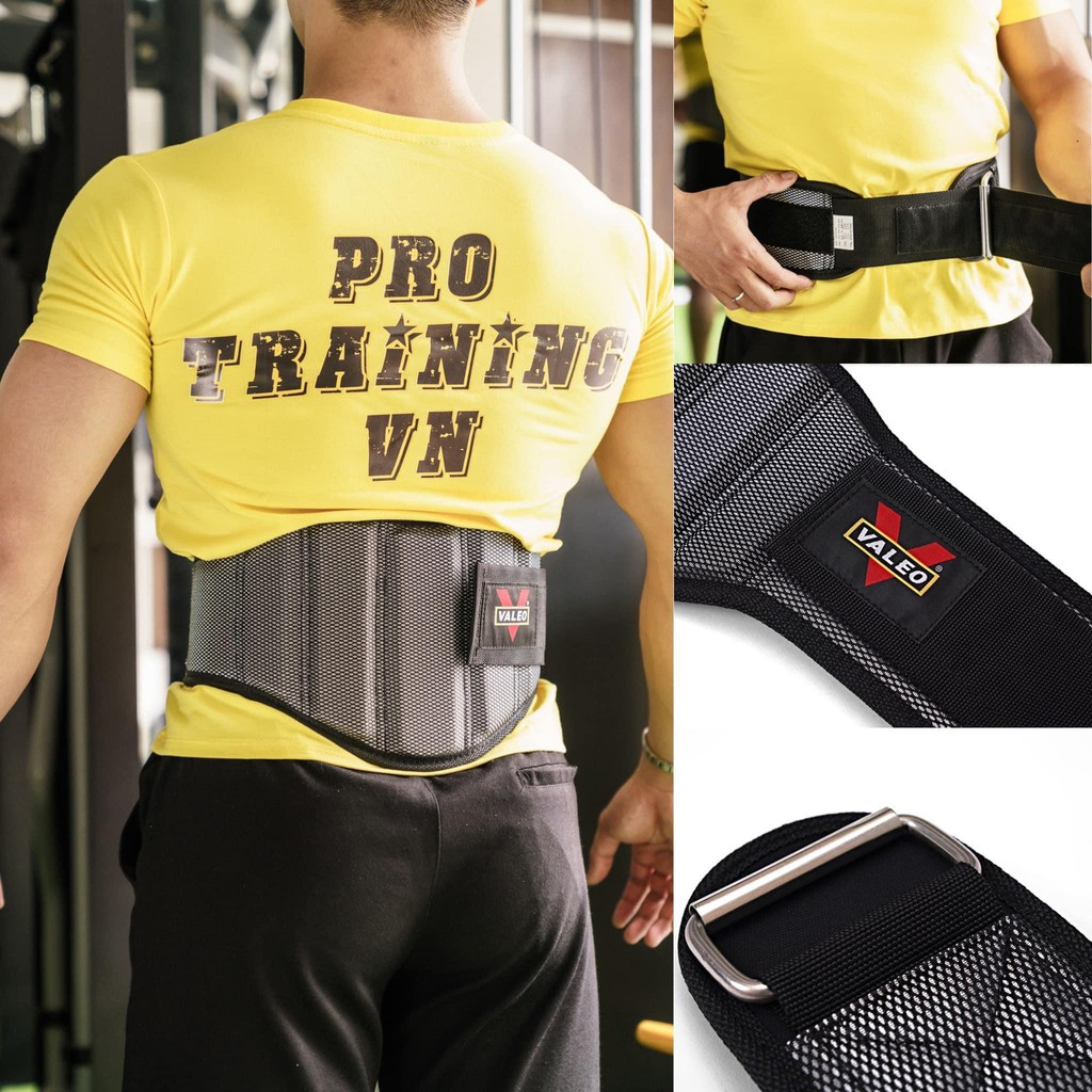 Đai bảo vệ lưng tập gym lục giác