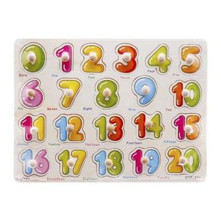 Đồ chơi gỗ cho bé dạng bảng ghép 20 số