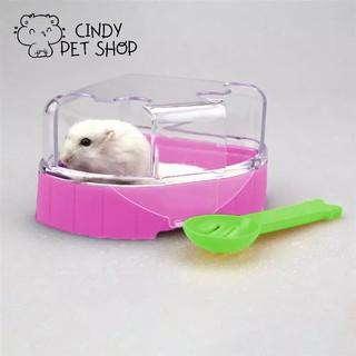 Nhà tắm mica 2 cửa cho Hamster kèm xẻng lọc phân thumbnail