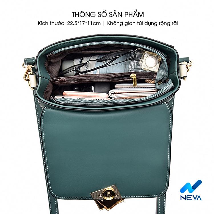 (Mới) Túi Xách Nữ khóa gương style Hàn quốc cực hot NEVA882