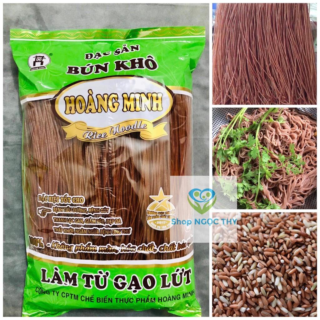 Bún gạo lứt Đỏ Hoàng Minh 500gr/gói, bún gạo lức dai ngon eatclean giảm cân healthy