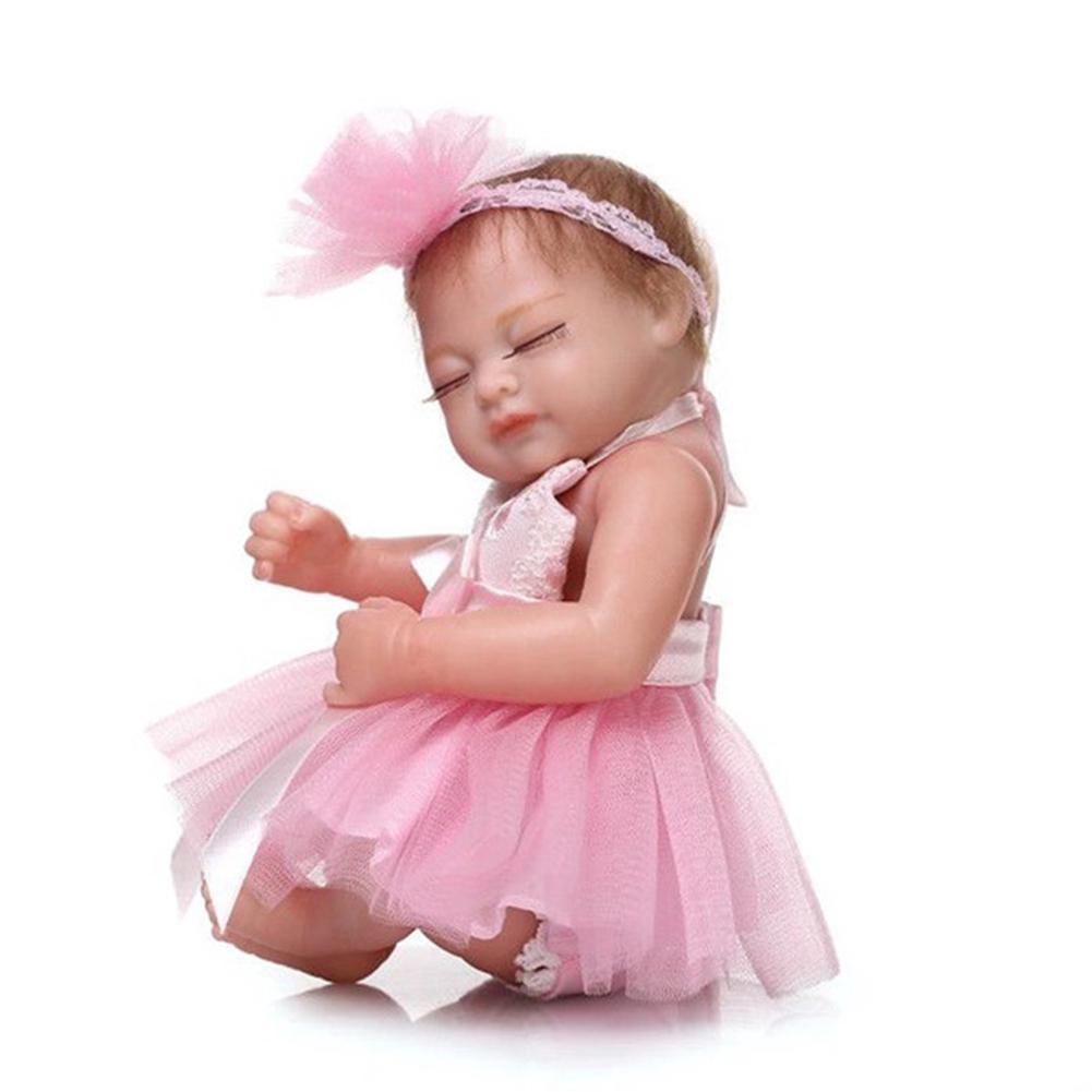 26CM Soft Silicone Reborn Baby Doll Girl Toys Lifelike Babies Full Body Fashion Dolls Bebe Bath Outfit