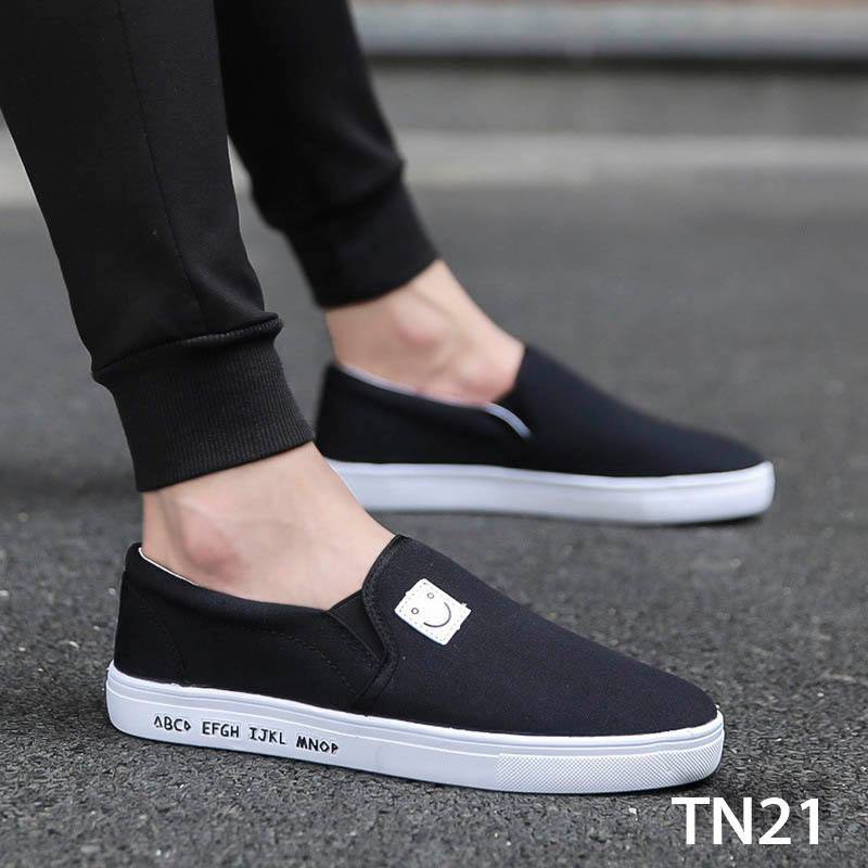 [ GÍA HỦY DIỆT ] Giày Sneaker Thể Thao Đế Êm Chất Vải Cao Cấp [ TN20 - Xám Bạc,TN21 - Đen ]