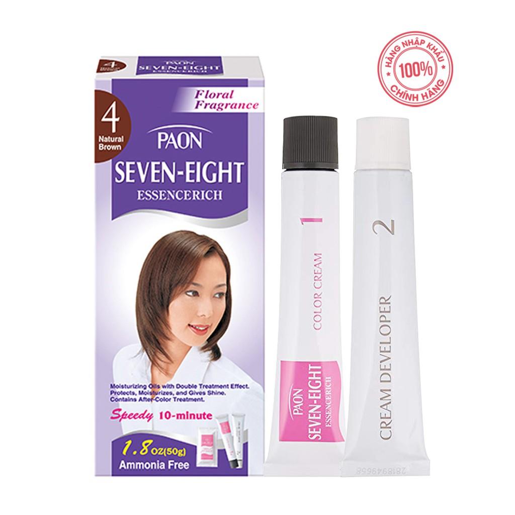 Nhuộm phủ bạc dưỡng chất Seven Eight ESSENCERICH Hair Color 4 (50g + 50g) Nhật Bản