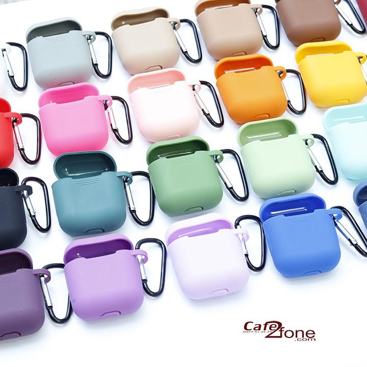 Vỏ bao Airpods, Airpods 2, túi đựng bảo vệ airpod, airpod 2 kèm móc khóa (bảng màu số 1)