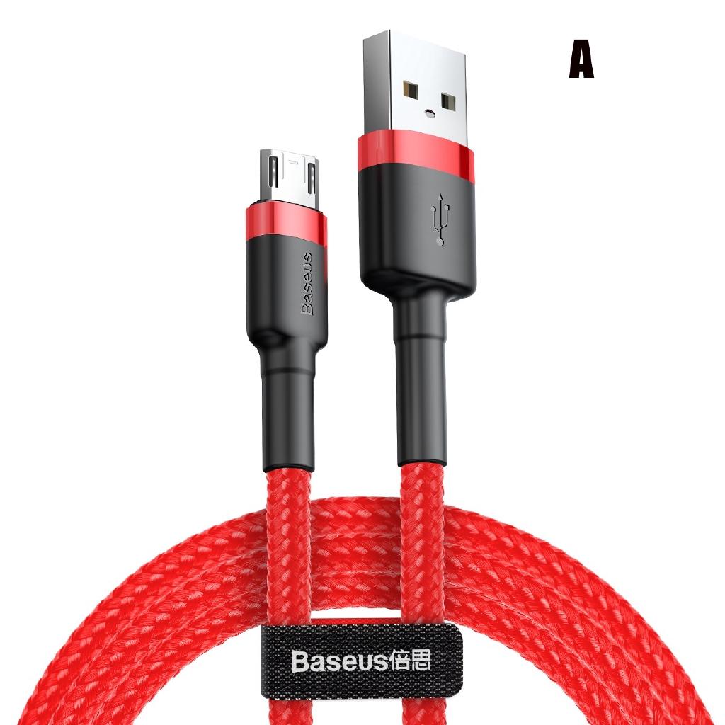 Kết quả hình ảnh cho BASEUS CAFULE CABLE USB FOR MICRO 2A 3M RED+BLACK