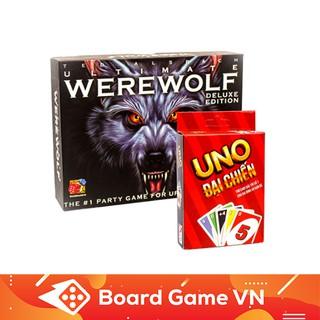 [Nhập TOYBGVN giảm 15%]Combo Cards Game Uno đại chiến + Ma sói Ultimate Deluxe Việt hóa chính hãng BoardgameVN
