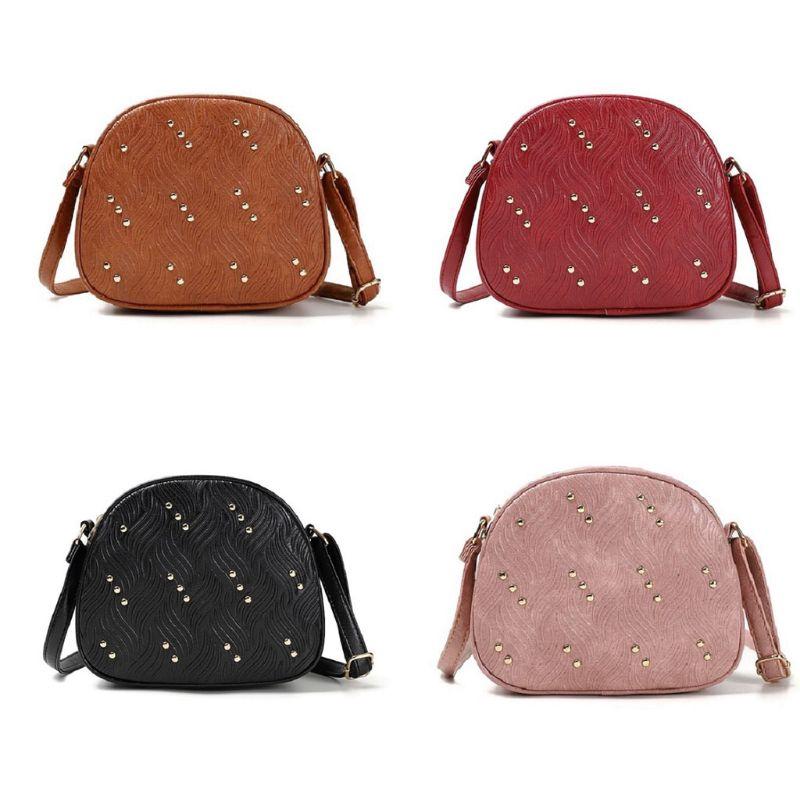 Women Leather Handbag Tote Purse Satchel Rivet Crossbody Messenger Shoulder Bag