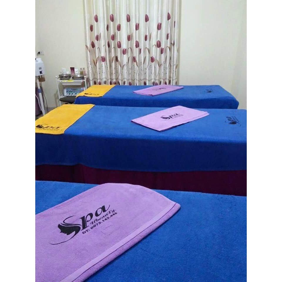 Khăn trải giường spa 100% cotton cao cấp KT 90x180cm ( Xanh dương)
