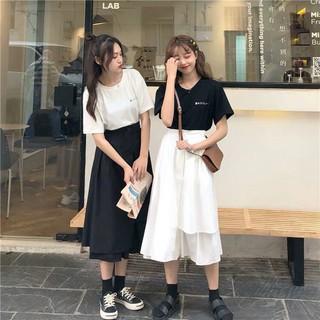 Chân váy tầng Ullzang siêu hot – chân váy dài qua gối-váy cho giới trẻ