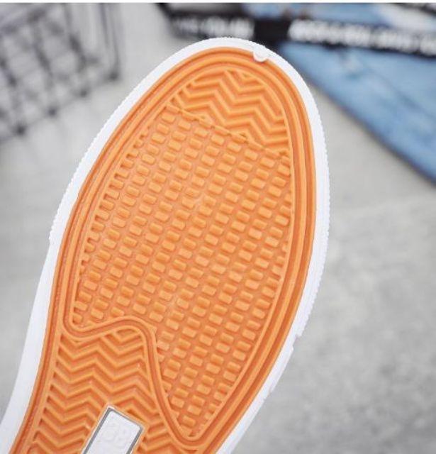 Giày xanh họa tiết hoa trẻ trung năng động thoáng khí đẹp hơn hình, dày dặn, cao tới 3 phân