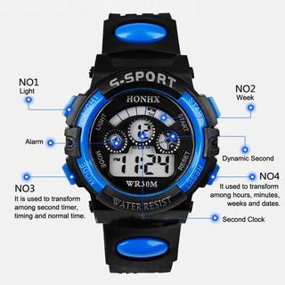 Đồng hồ điện tử đa năng chống nước thời trang cho bé trai