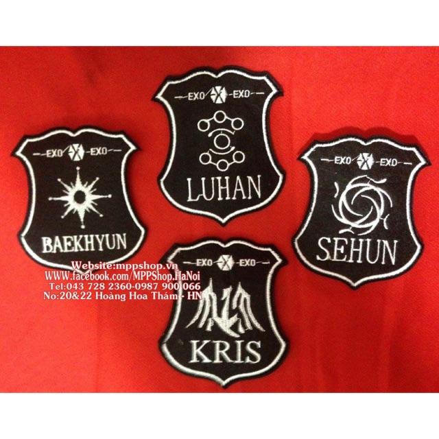 Miếng là áo , huy hiệu vải thêu EXO