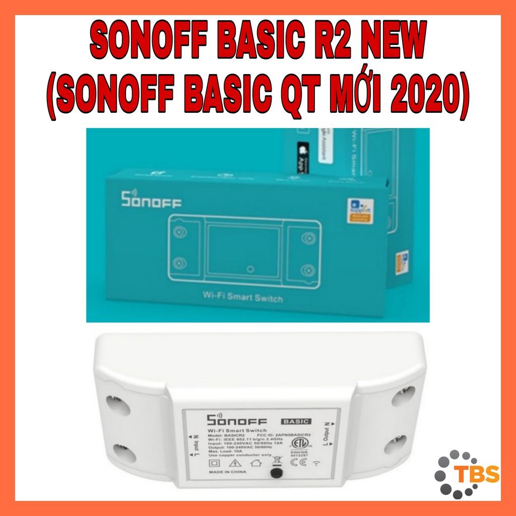 SONOFF BASIC R2 NEW 2020 (TIẾNG ANH, NEW 2020) - Công Tắc WIFI, Điều Khiển Từ Xa Thông Minh