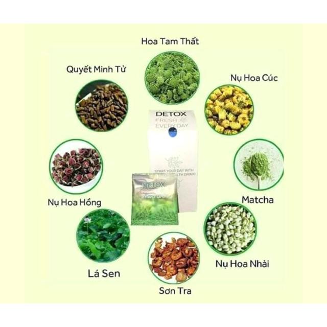 Trà Hoa Detox Giảm cân Thanh lọc cơ thể