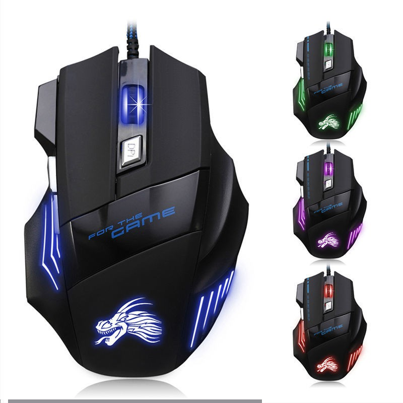 Chuột chơi game có dây MN79, chuột gaming mouse 3200DPI Chơi Game Thiết Kế Design giá rẻ