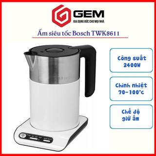 Ấm siêu tốc chỉnh nhiệt Bosch TWK8611P Ấm đun nước giữ ấm 1,5lit