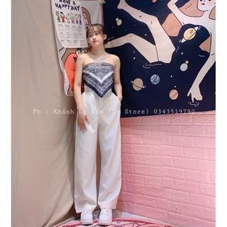 set khăn bandana+quần suông