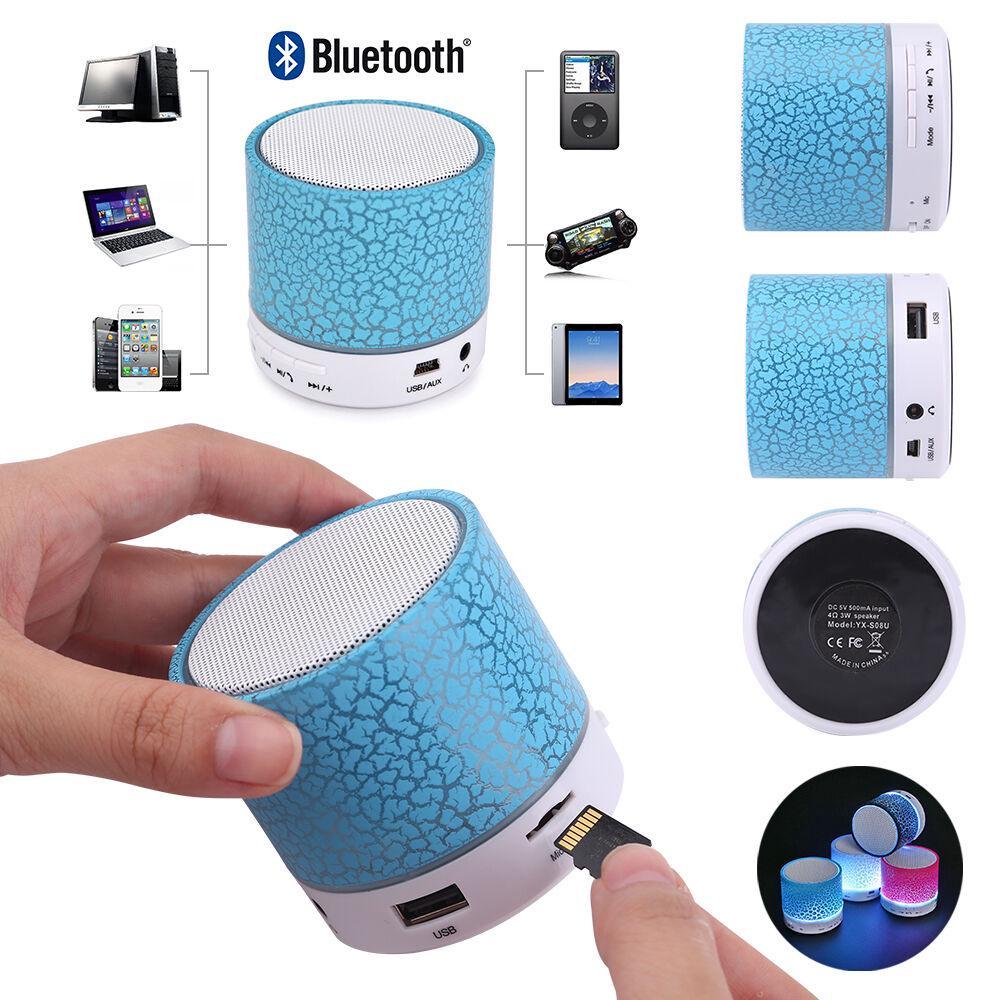 Loa Bluetooth mini tích hợp đài FM có đèn LED