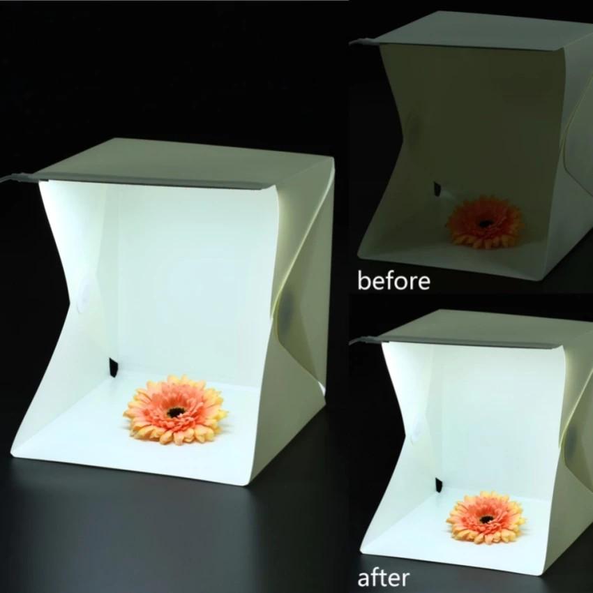 Hộp chụp sản phẩm 40x40x40cm - NAM CHÂM - Đèn LED siêu sáng, chất liệu cao cấp không nhăn - POPO Spo