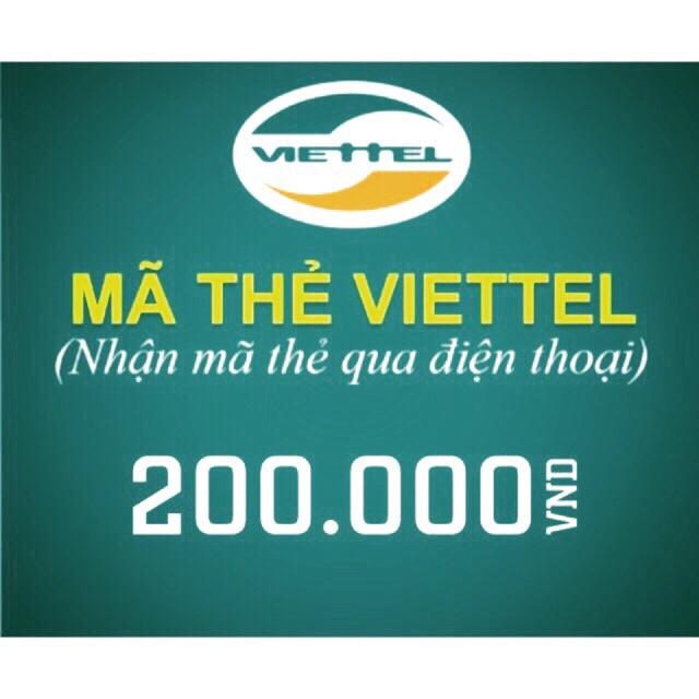 Mã thẻ/Nạp tiền Viettel 200k