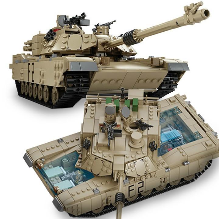 LEGO ARMY KAZI Lắp Ráp Xe Tăng M1A2 1436 Chi Tiết