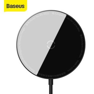 Bộ sạc nhanh không dây Baseus từ tính mini cho iPhone 12 iPhone 12 Pro với cáp Type C đen