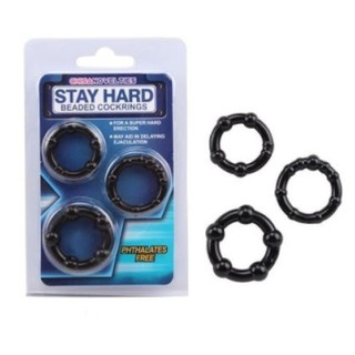 Bộ 3 vòng đeo màu đen/màu trong