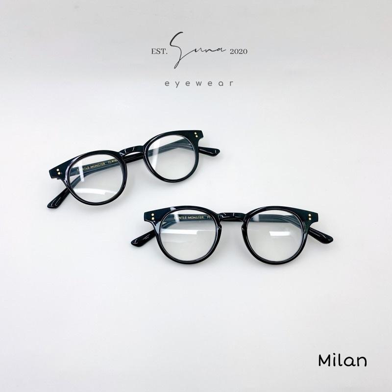 Gọng kính cận GM Milan dáng tròn ( đinh vàng, loại 1 )