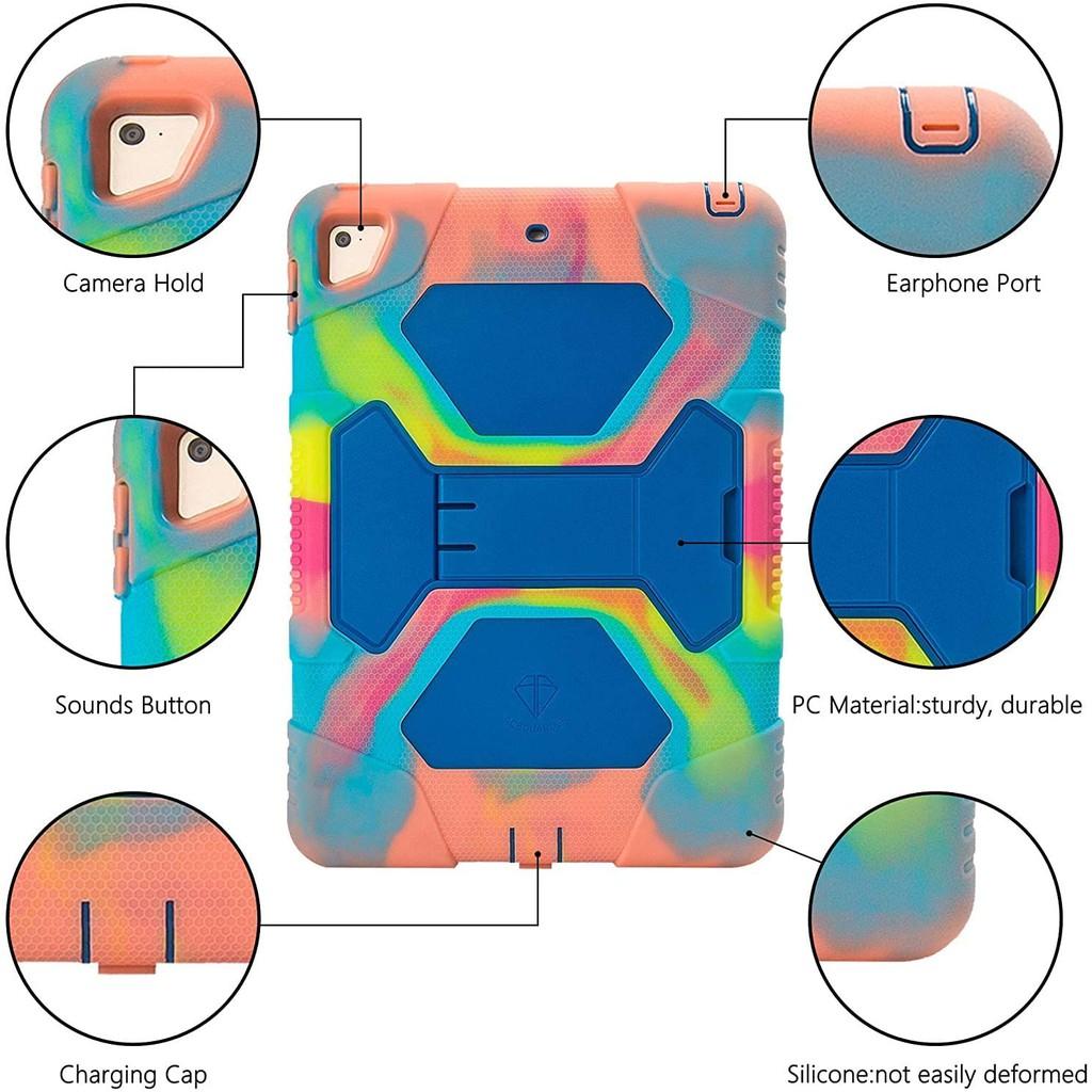 Ốp lưng ipad mini 1,2,3 Silicone Cao Cấp Chông Bám Vân Tay và Mồ Hôi Nhiều Màu Cực Đẹp