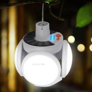 Đèn led tích điện năng lương mặt trời 5 mặt 5 chế độ sáng