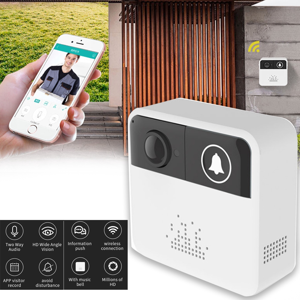 Home Use Multifunction Remote Intercom Doorbell Visual Digital Door Viewer Chimes Security WIFI