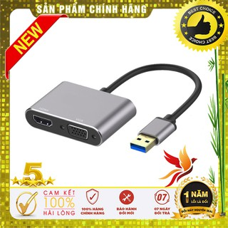 Cáp chuyển USB 3.0 ra HDMI, VGA