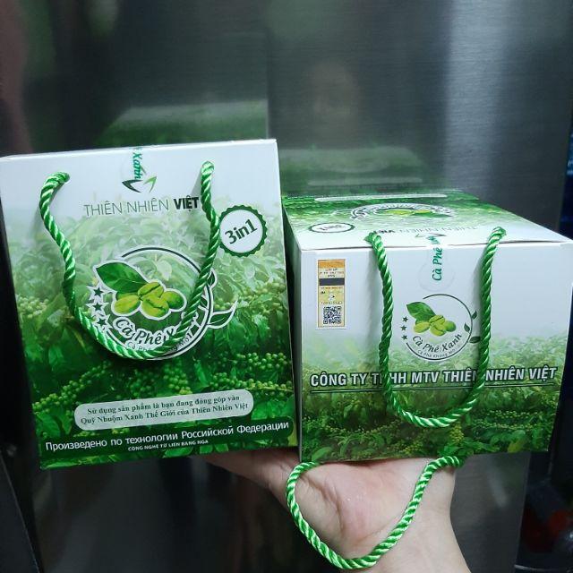 Cà Phê Xanh kháng mỡ thiên nhiên hộp 30 gói tem cào chính hãng