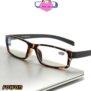 ROW Unisex Reading Glasses Portable PC Frames Presbyopic Glasses Vision Care Anti Blue Light High-definition Ultralight Eyeglasses