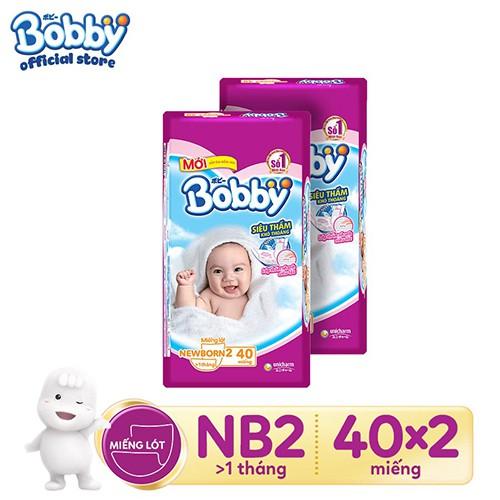 Combo 2 gói Miếng lót Bobby Fresh Newborn 2 - 40 miếng/60 miếng