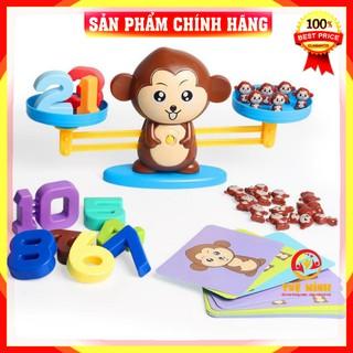 FreeShip_Hàng Loại 1 _ Bộ Đồ Chơi trí tuệ Khỉ Toán Học Cân Bằng Thông Minh Monkey Balance Cho Bé Học Số Đếm