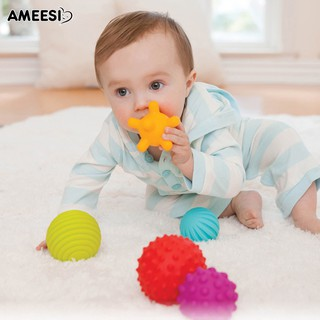 🔅🔆AMEESI 4/6Pcs Baby Hand Catch Ball Touch Massage Indoor Toy