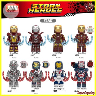 Minifigure siêu anh hùng lego marvel nhân vật Iron Man Ultron X0267 thumbnail